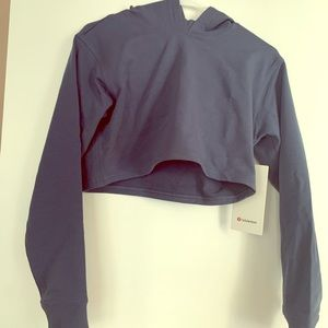 Never worn LA All Yours Cropped Hoodie Lululemon
